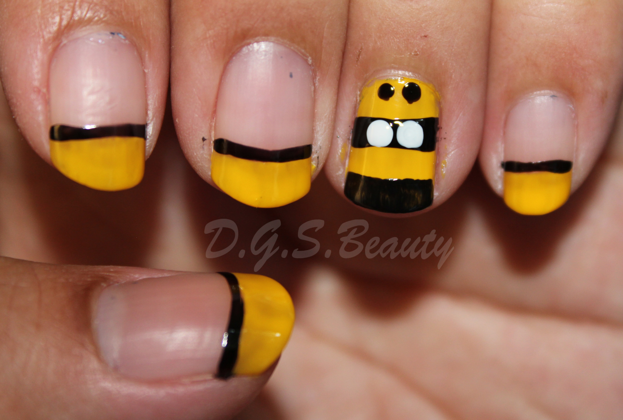 Notw diy nail art 6 bumblebee nails dgsauty 2 kiss brush on nail art white 3 kiss brush on nail art black 4 sephora by opi whats a tire jack prinsesfo Image collections