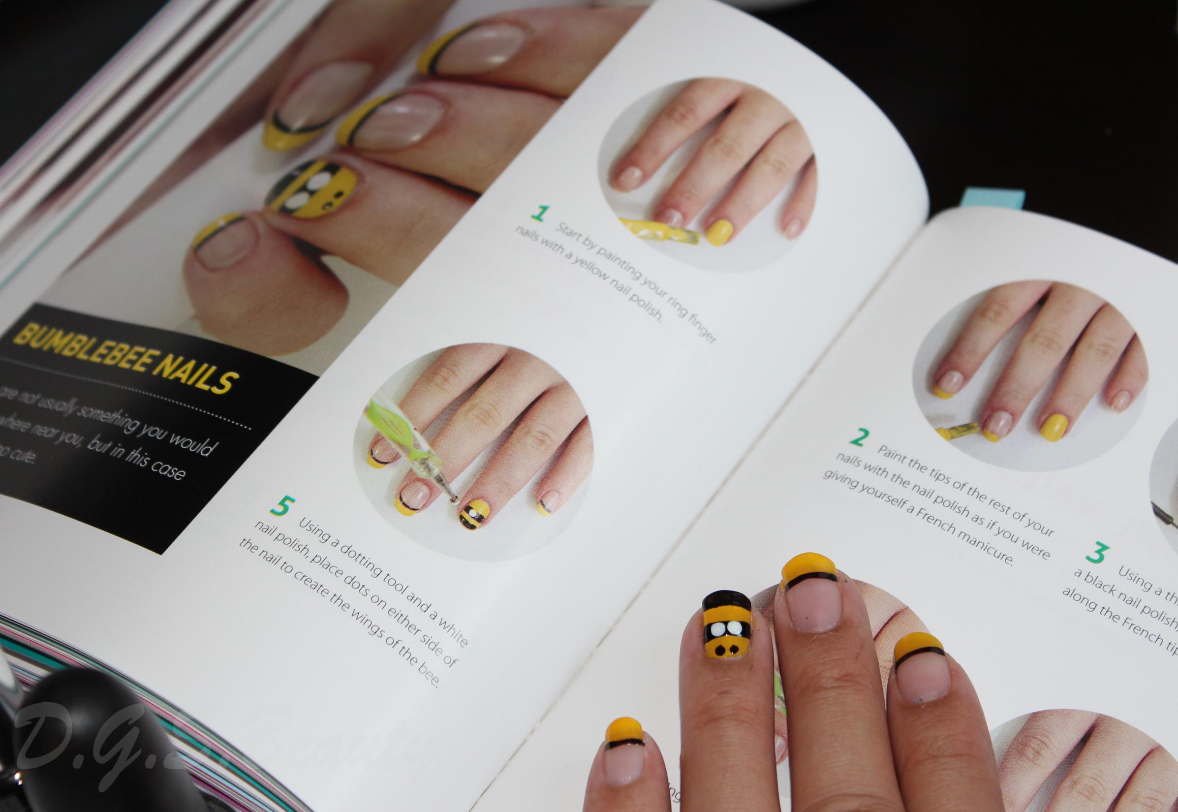 NOTW: DIY Nail Art #6 Bumblebee Nails | D.G.S.Beauty