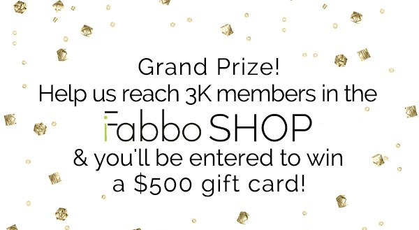 Join iFabbo and Enter to Win a $500 Gift Card!