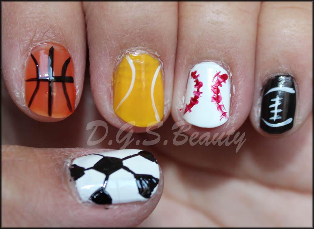 Diy Nail Art 42 Sports Nails Dgsauty